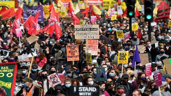 لندن میں مظاہرہ